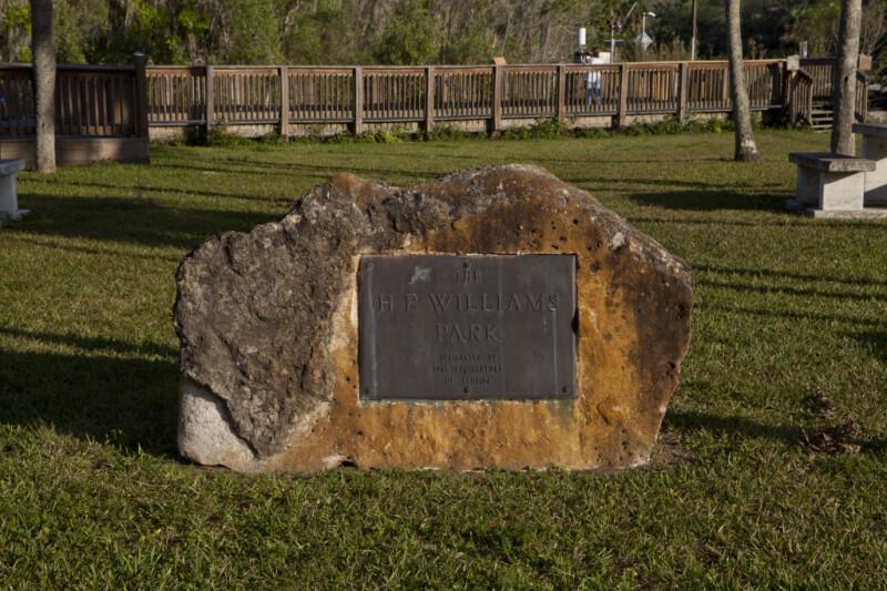 """""""The H.P. Williams Park, Designated by 1965 Legislature of Florida"""" Sign"""