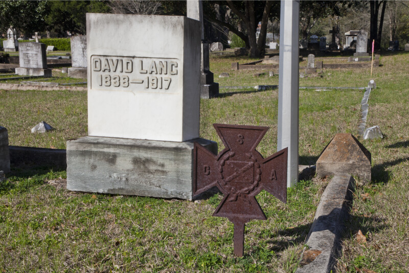 The Headstone of Major General David Lang
