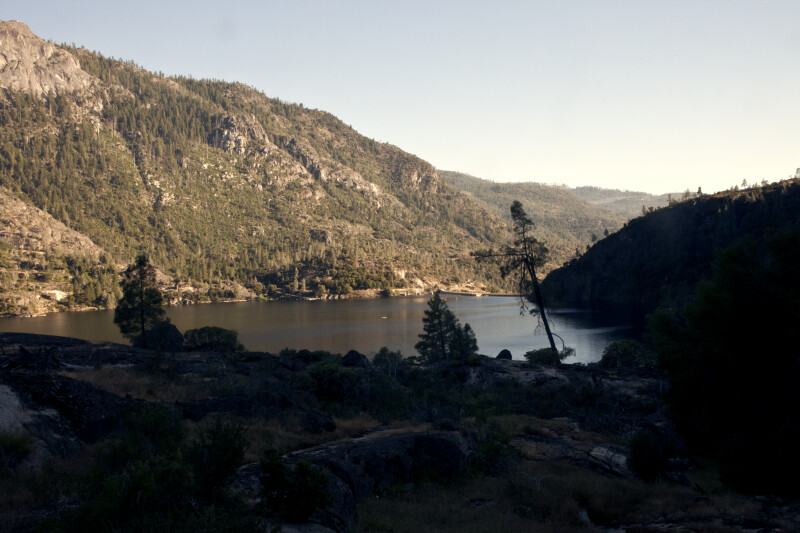 The Hetch Hetchy Reservoir and the Back of O'Shaughnessy Dam