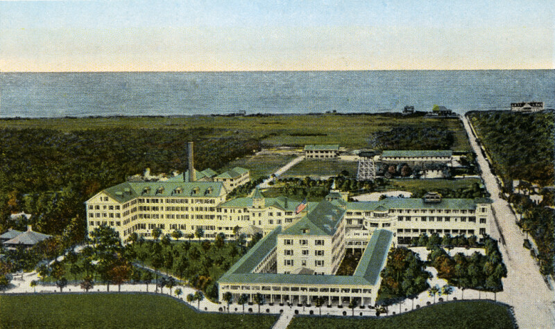 The Hotel Ormond Beach Florida A View From Hydro Aeroplane