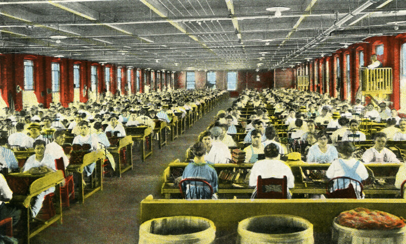The Interior of the E. Regensburg & Sons' Cigar Factory