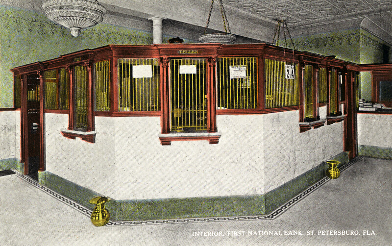 The Interior of the First National Bank