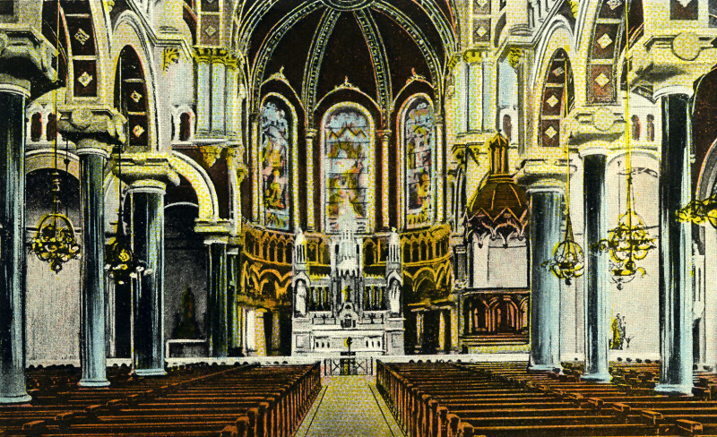 The Interior of the Sacred Heart Church