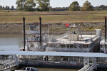 The Island Queen and the Memphis Showboat