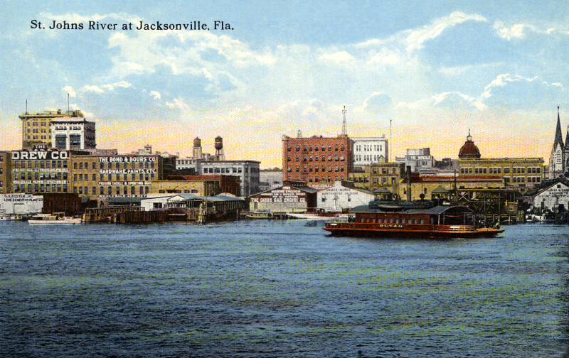 The Jacksonville Skyline, from the St. Johns River