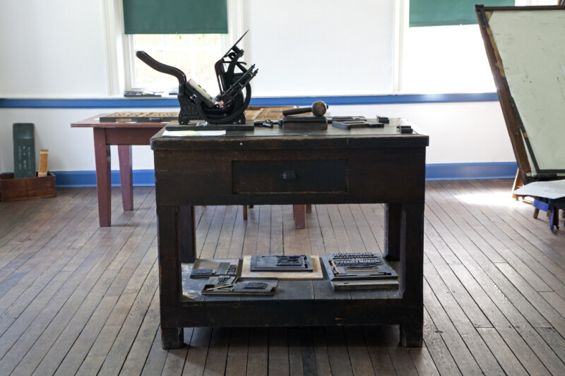 The Kelsey Excelsior Printing Press