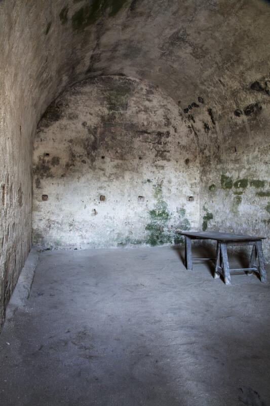 """The Kings' Coffer: Treasury Room"" at Castillo de San Marcos"