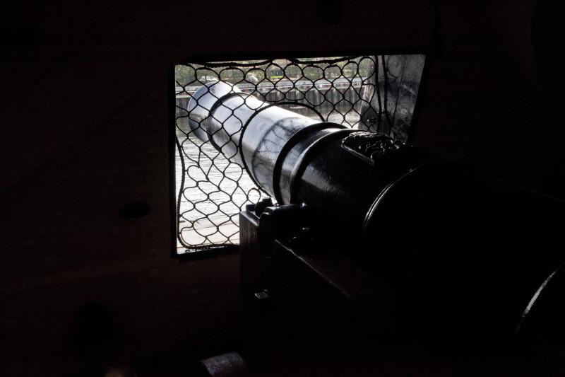 The Long Guns on the Gun Deck