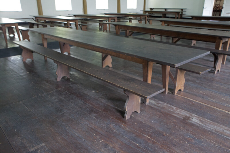 The Long Tables and Benches of the Feast Hall