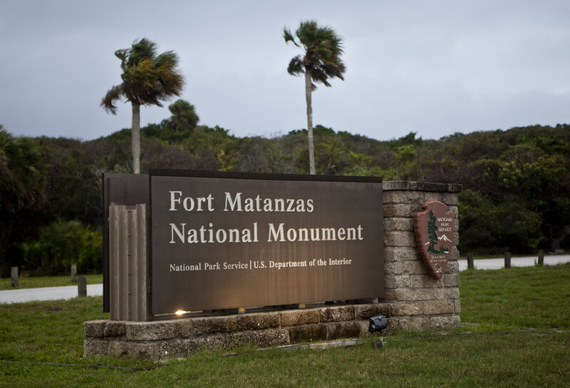 The Main Sign at Fort Matanzas National Monument