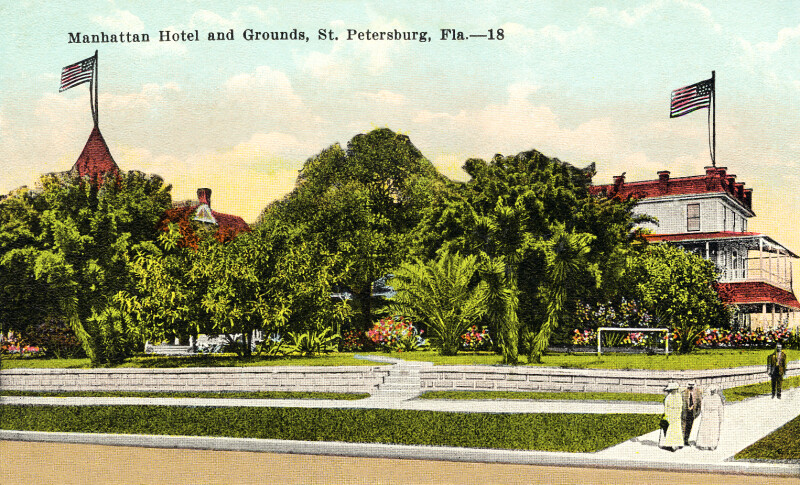 The Manhattan Hotel and Grounds in St. Petersburg, Florida
