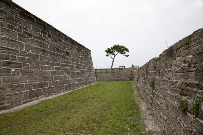 The Moat at Castillo de San Marcos