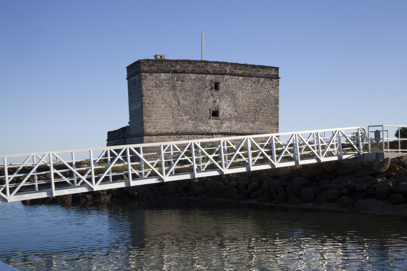 The North Wall of Fort Matanzas with Dock in the Foreground