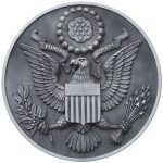 The Obverse Side of the Great Seal of the United States in Gray