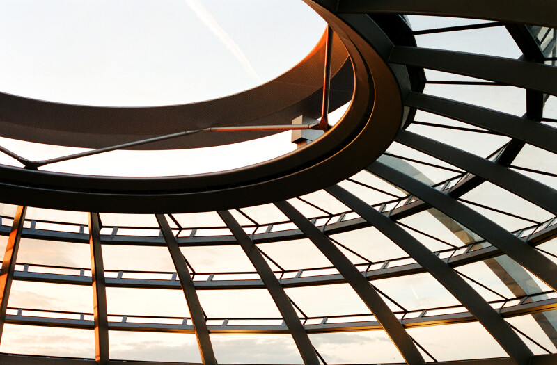 The Oculus at the Top of the Reichstag Dome