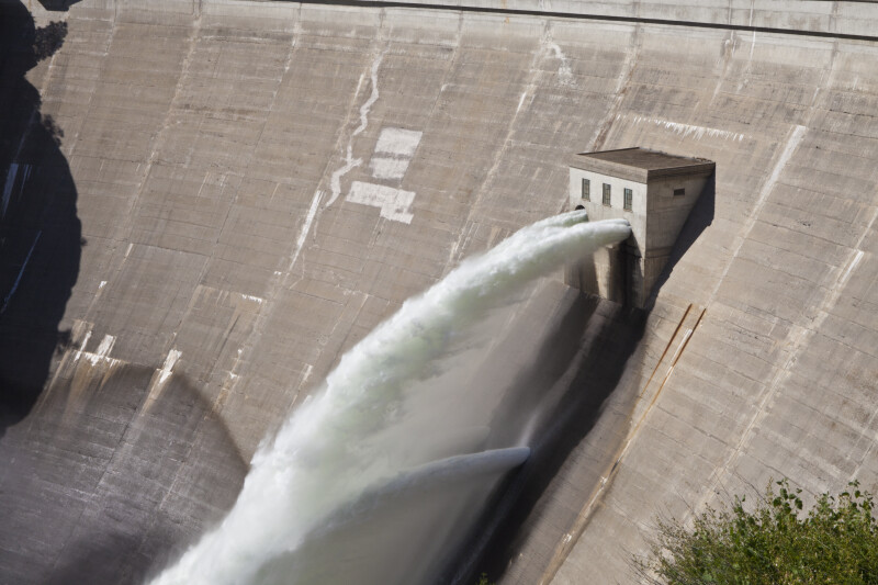 The Open Floodgates of O'Shaughnessy Dam