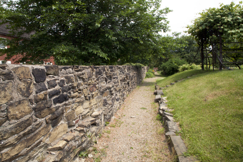 The Path Along the Stone Wall