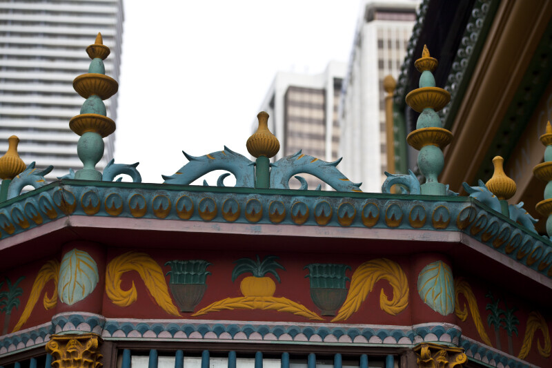The Polychrome Paint on the Ticket Office of the Olympia Theater