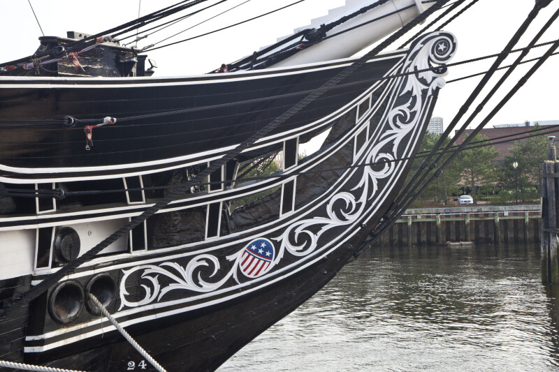 The Prow of the USS Constitution