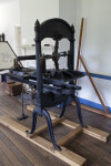 The Raised Platen of a Washington Printing Press