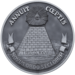 The Reverse Side of the Great Seal of the United States in Gray