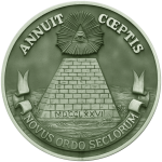 The Reverse Side of the Great Seal of the United States in Green