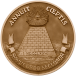 The Reverse Side of the Great Seal of the United States in Sepia