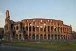 The Roman Colosseum at Dusk
