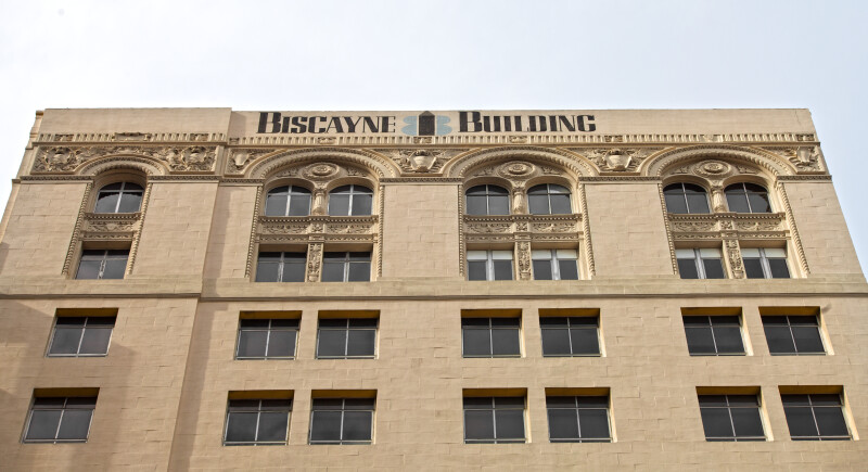 The Roof Line of the Biscayne Building