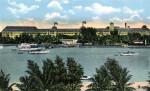 The Royal Poinciana Hotel, from across the Lake