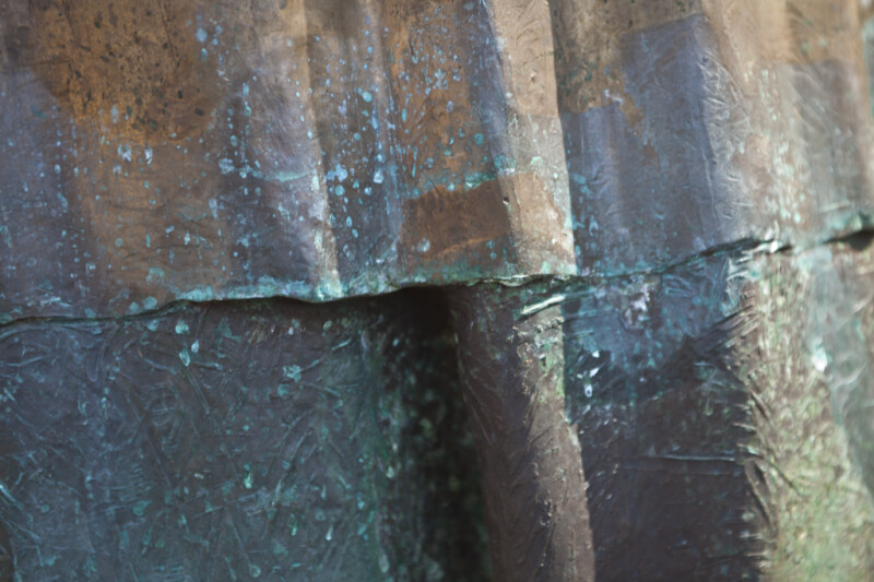 The Seam in the Skirt of a Bronze Sculpture