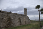 The Sentry Tower of Castillo de San Marcos, from the Seawall