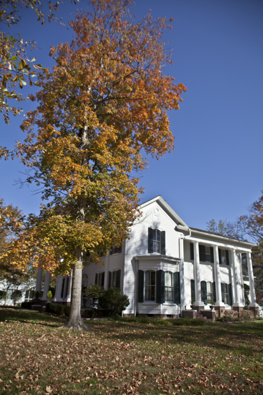 The Side Elevation of the Phillips-Nelson-Williams Home