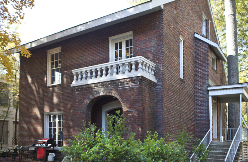 The Side Entrance of the Borroum-Simmons House
