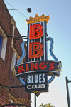 The Sign for B. B. King's Blues Club, with Top B Lit