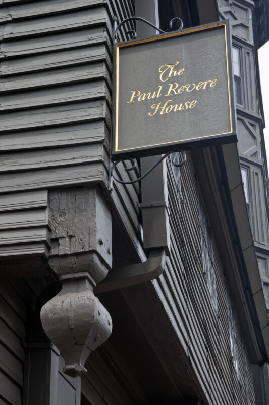 The Sign on the Paul Revere House