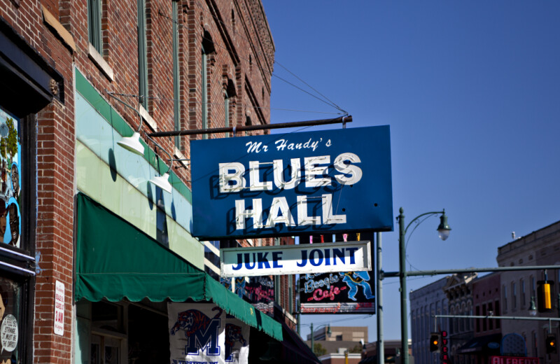 The Sign Outside Mr. Handy's Blues Hall and Juke Joint