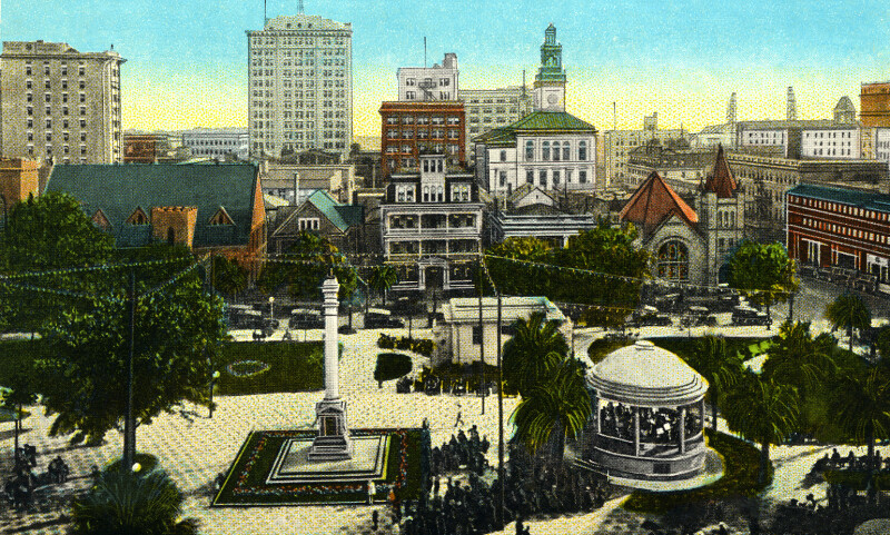 The Skyline and Hemming Park, from the St. James Building