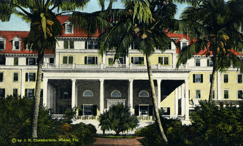 The South Porch and Garden of the Royal Palm Hotel