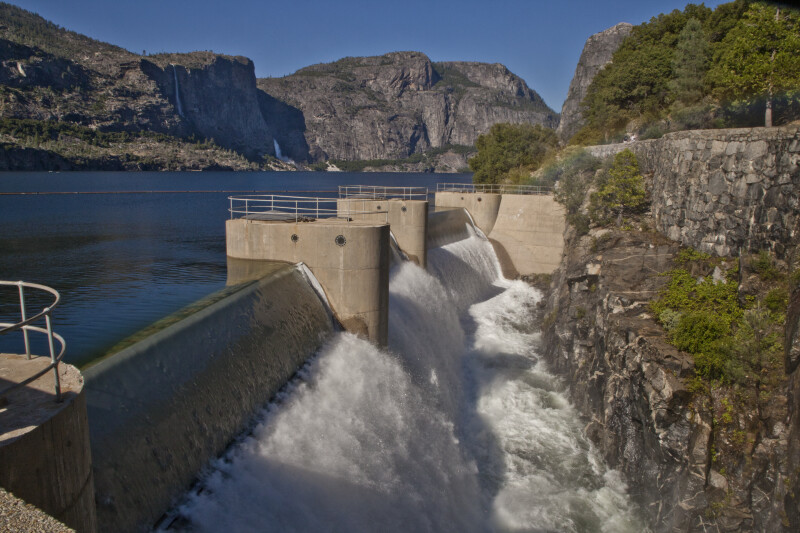 The Spillway Channel at O'Shaughnessy Dam