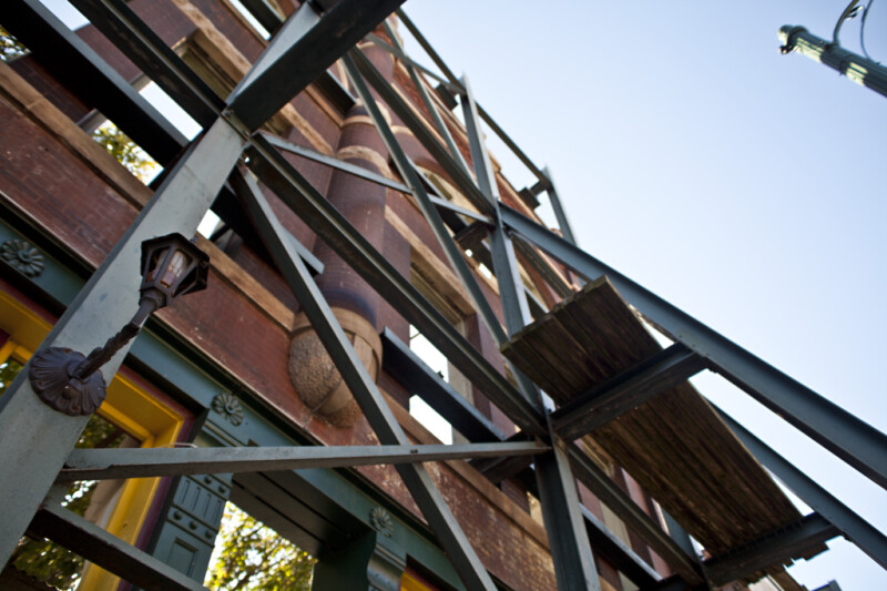 The Support Structure for the Front Facade of the Gallina Building