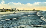 The Surf and Beach, Showing Clarendon Hotel at Seabreeze from Daytona Beach