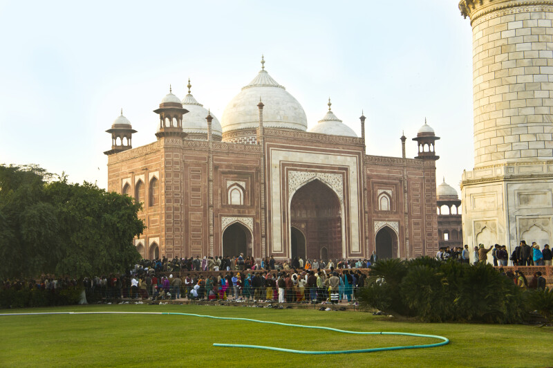 The Taj Mahal and the Great Gate