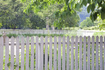 The Top of a White Picket Fence