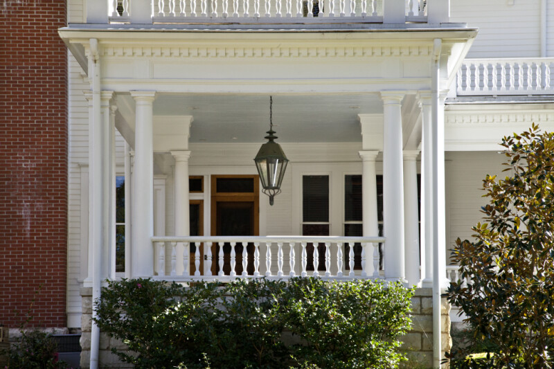 The Two-Story Porch of the James E. Creary House