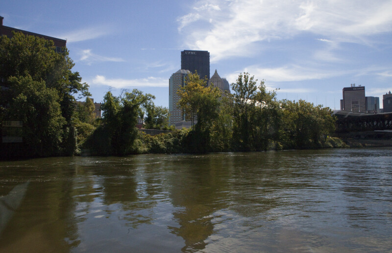 The U.S. Steel Tower from the Allegheny River