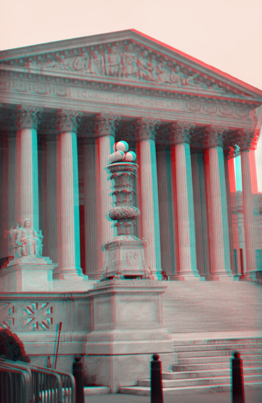 The United States Supreme Court Building, but closer