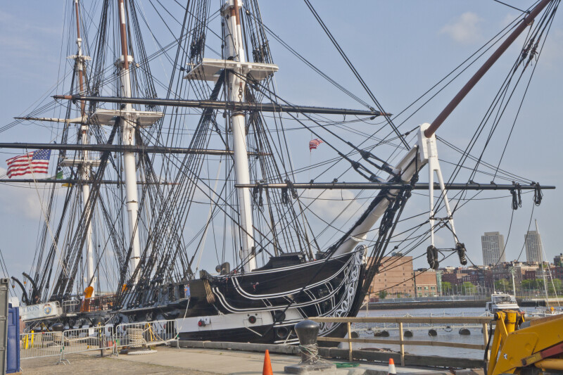 The USS Constitution in Port