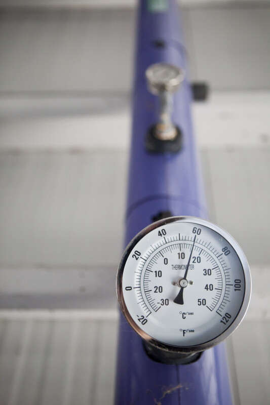 Thermometer on Pipe