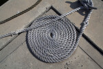 Thick Rope Tied to a Dock Cleat